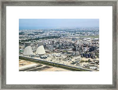 Haifa Industrial Zone Framed Print by Photostock-israel