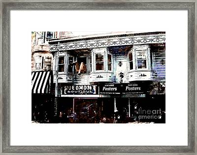 Haight And Ashbury Framed Print by Barbara D Richards