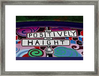 Haight-ashbury Art In San Francisco Framed Print