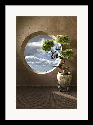 Tree With Birds Framed Prints