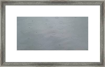 Hail On Lake Berryessa Framed Print by Scott Lenhart