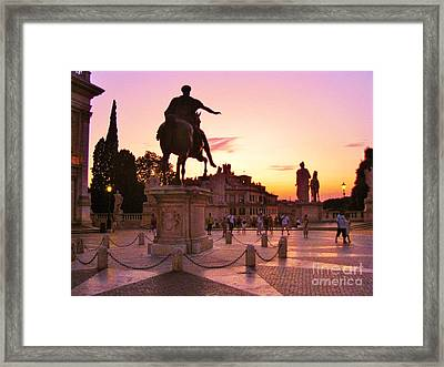Hail To All The Little Tourists Framed Print by John Malone