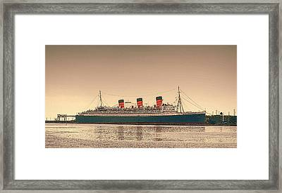 Hail To The Queen Mary Framed Print