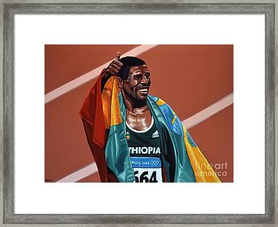 Haile Gebrselassie Framed Print by Paul Meijering