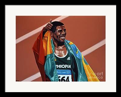 Berlin Marathon Framed Prints