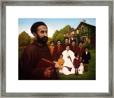 Haile Selassie In Exile, 1987 Oil And Tempera On Panel Framed Print by Frances Broomfield