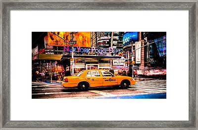 Hailing A Cab Framed Print by David Hahn