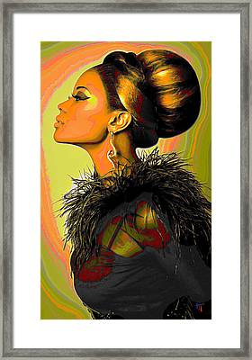 Hair Bun Framed Print