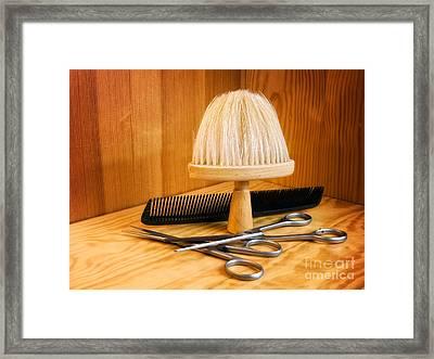 Hair Cut Accessories Framed Print