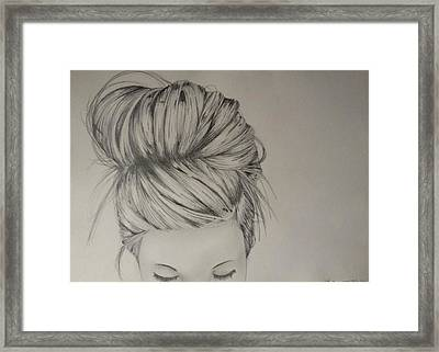 Hair Framed Print by Kimberly Besaw