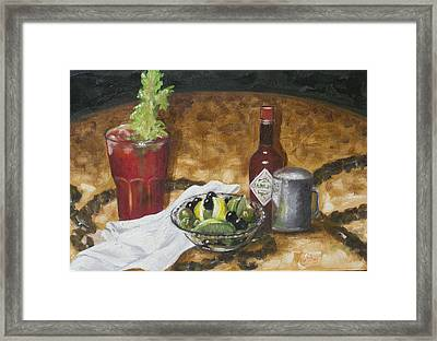 Hair Of The Dog Framed Print by Ruthe Dawes