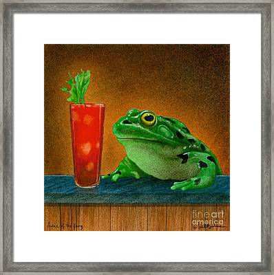 Hair Of The Frog... Framed Print by Will Bullas