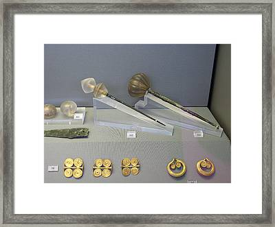 Hair-pins And Earrings Framed Print by Andonis Katanos