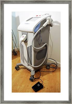 Hair Removal Laser Machine Framed Print