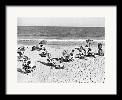 Ripples Of Black And White Framed Prints