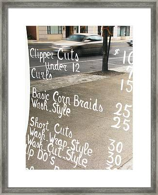 Hair Salon Sign Framed Print