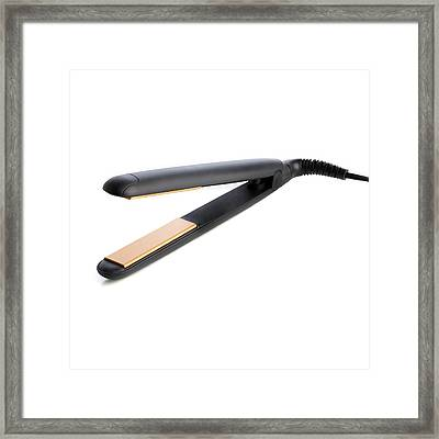 Hair Straighteners Framed Print by Science Photo Library