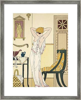 Hair Washing Framed Print by Joseph Kuhn-Regnier