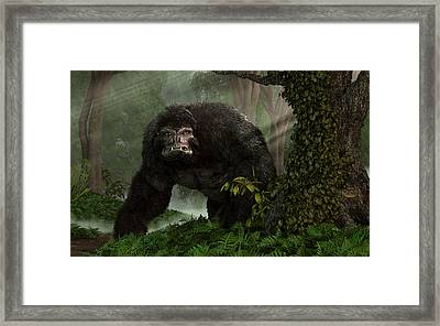 Hairy Beast Framed Print by Daniel Eskridge