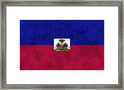 Haiti Flag Framed Print by World Art Prints And Designs