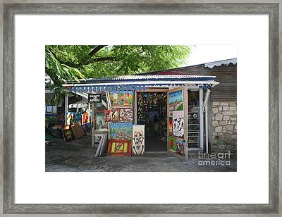 Framed Print featuring the photograph Haitian Art Shack by The Art of Alice Terrill
