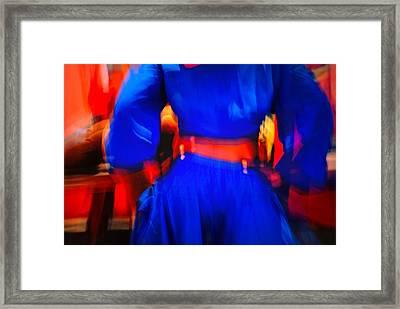 Haitian Dancer In Motion Framed Print by David Coleman