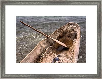 Haitian Dugout Canoe Framed Print by Anna Lisa Yoder