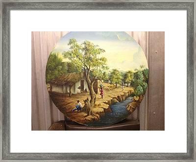 Haitian Landscape Framed Print