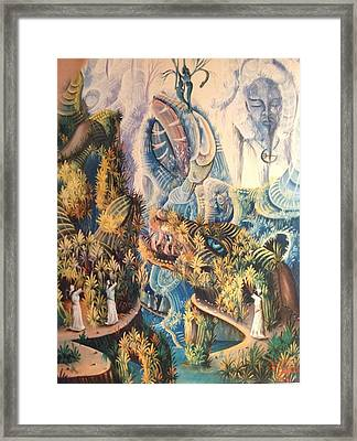 Haitian Mystical Mandscape Framed Print by Dimanche