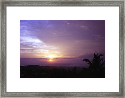Haitian Sunset Framed Print by Marianne Miles