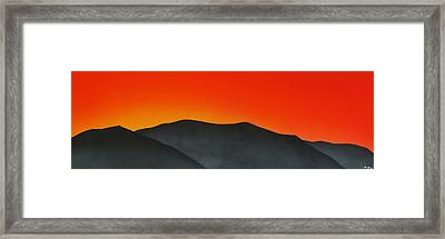 Hakarimata Sunset Framed Print