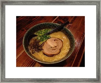 Hakatame Noodles Framed Print