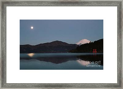 Hakone Lake Framed Print by John Swartz