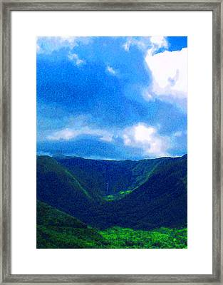 Halawa Valley Framed Print by James Temple