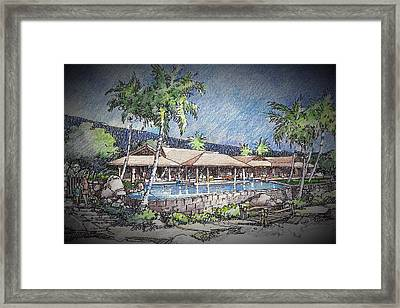 Framed Print featuring the drawing Hale by Andrew Drozdowicz