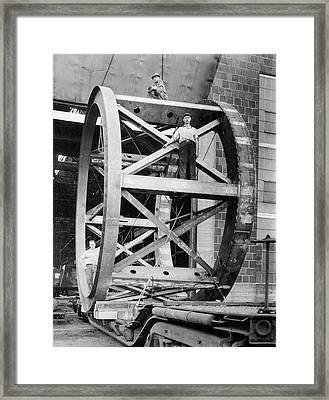 Hale Telescope Framework Transportation Framed Print by Hagley Museum And Archive