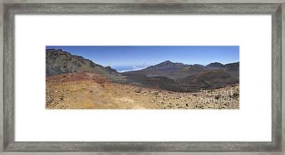 Haleakala Crater Framed Print by Sami Sarkis