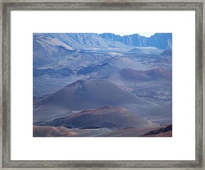 Framed Print featuring the photograph Haleakala Crater by Sheila Byers