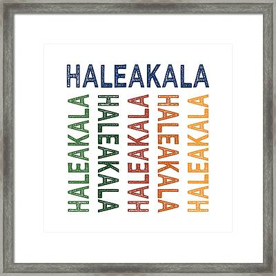 Haleakala Cute Colorful Framed Print by Flo Karp