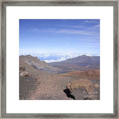 Haleakala  Summit Maui Hawaii  Framed Print