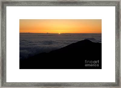 Haleakala Sunrise Framed Print by Benjamin Reed