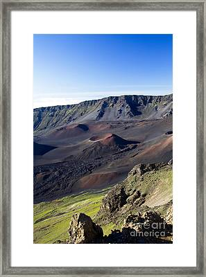 Haleakala Sunrise On The Summit Maui Hawaii - Kalahaku Overlook Framed Print