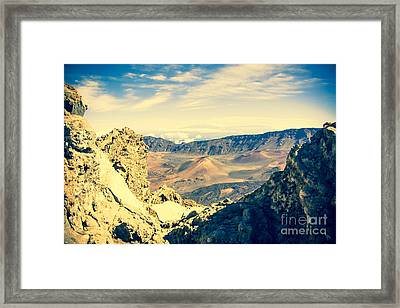 Haleakala Sunrise On The Summit Maui Hawaii  Framed Print