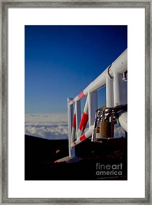 Haleakala Sunrise Skyline Trail Maui Hawaii Framed Print