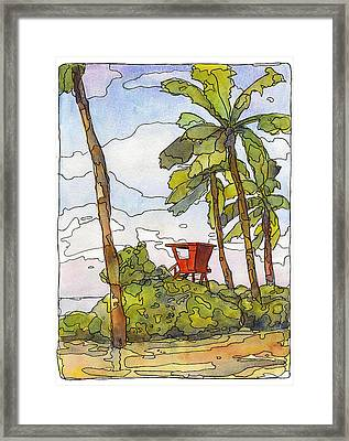 Haleiwa Lifeguard Tower 1 Framed Print by Stacy Vosberg