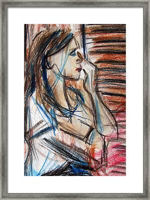 Haley Framed Print by Denny Morreale