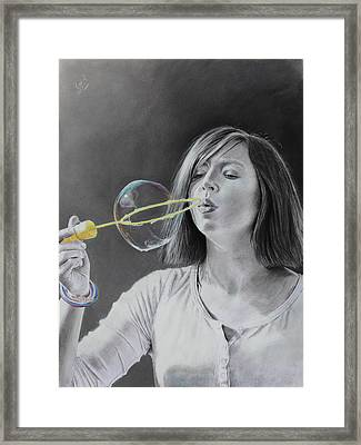Bubble Girl Framed Print by Glenn Beasley