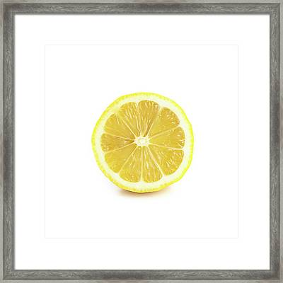 Half A Lemon Framed Print by Science Photo Library