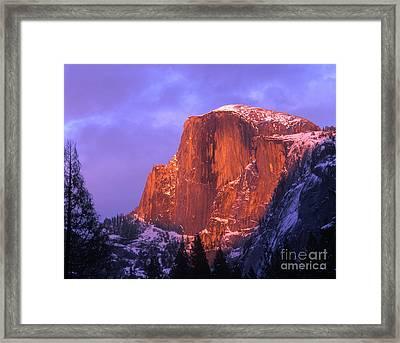 Half Dome Alpen Glow Framed Print