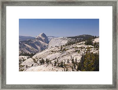 Half Dome And The High Sierra Framed Print by Richard Berry